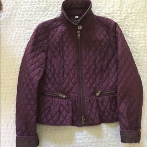 Burberry quilted jacket in mauve size 12